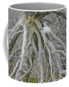 Snowy Egret - Egretta Thula - On Marsh Tangle Coffee Mug