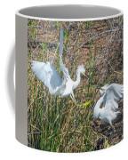 Snowy Egret Confrontation 8664-022018-1cr Coffee Mug