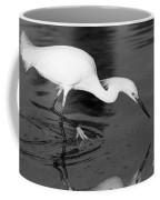 Snowy Egret Fishing Coffee Mug