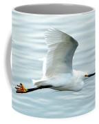 Snowy Egret In Flight Coffee Mug