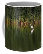 Snowy Egret In Marsh Reinterpreted Coffee Mug
