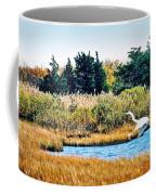 Snowy Egret-island Beach State Park N.j. Coffee Mug