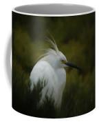 Snowy Egret Portrait Da Coffee Mug