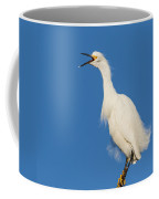Snowy Egret With Attitude Coffee Mug