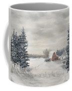 Snowy Farm  Coffee Mug