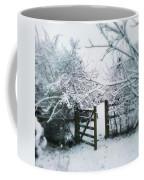 Snowy Garden Gate Three Coffee Mug