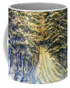 Snowy Lane Coffee Mug