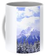 Snowy Mountain Coffee Mug by Elena Elisseeva