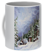 Snowy Mountain Resort Coffee Mug