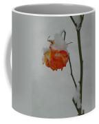 Snowy Orange Rose Coffee Mug