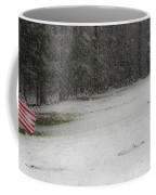 Snowy Patriot Quantico National Cemetery Coffee Mug