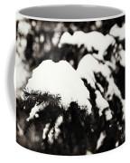 Snowy Pine Branches Coffee Mug
