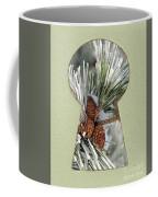 Snowy Pine Keyhole Coffee Mug