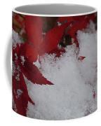 Snowy Red Maple Coffee Mug