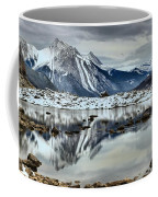 Snowy Reflections In Medicine Lake Coffee Mug