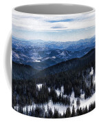 Snowy Ridges - Impressions Of Mountains Coffee Mug