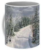 Snowy Road  Coffee Mug