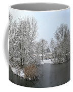 Snowy Scenery Round Canals Coffee Mug