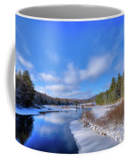 Snowy Shore Of The Moose River Coffee Mug