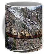 Snowy Train Coffee Mug