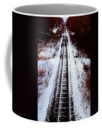 Snowy Train Tracks Coffee Mug
