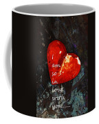 So In Love With You - Romantic Red Heart Painting Coffee Mug