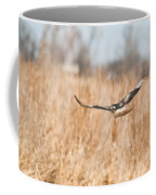 Soaring Hawk Over Field Coffee Mug