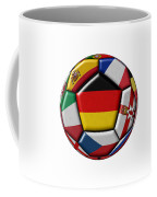 Soccer Ball With Flag Of German In The Center Coffee Mug