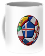 Soccer Ball With Flag Of Iceland In The Center Coffee Mug