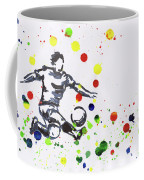 Soccer Player In Action Coffee Mug
