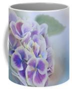 Soft Hydrangeas On Blue Coffee Mug