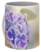 Soft Hydrangeas On Peach Coffee Mug