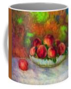Soft Peaches Still Life Coffee Mug