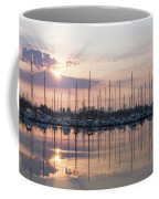Softly - God Rays And Yachts In Rose Gold And Amethyst  Coffee Mug