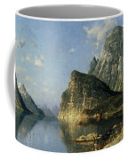 Sogne Fjord Norway  Coffee Mug by Adelsteen Normann