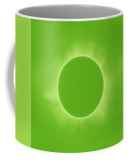 Solar Eclipse In Fresh Green Mint Colors Coffee Mug