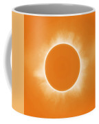 Solar Eclipse In Orange Colors Coffee Mug