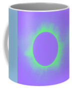 Solar Eclipse In Purple And Green Colors Coffee Mug