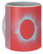 Solar Eclipse In Reddish Pink Coffee Mug