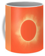 Solar Eclipse In Sunset Color Coffee Mug