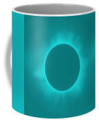 Solar Eclipse In Turquoise Color Coffee Mug