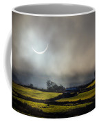 Solar Eclipse Over County Clare Countryside Coffee Mug