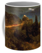 Soldiers Amount Towards A Mountain Fortress Coffee Mug