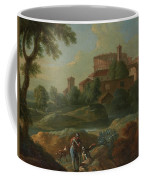 Soldiers And Dogs Near A River Coffee Mug