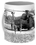 Soldiers Run To A Hh-53c Helicopter Coffee Mug