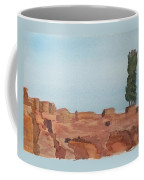 Solitarty Tree On Mountain Coffee Mug