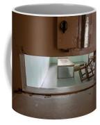 Solitary Confinement Cell Through Door Slat Coffee Mug
