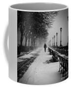 Solitary Man In The Snow Coffee Mug