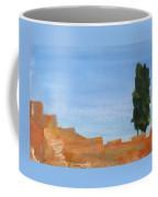 Solitary Tree On Rocks Coffee Mug