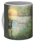 Solitary--walking In Water Coffee Mug